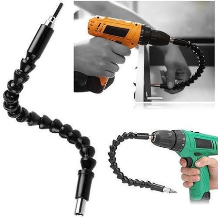 Oferta flash en el extensor flexible para broca y taladro con conector universal de 300 mm: cuesta 6,16 euros en Amazon