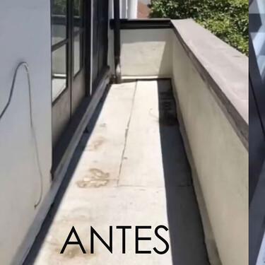 Ikea hack o cómo transformar tu pequeño balcón en una elegante espacio con suelo damero