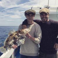 El día en el que los Beckham salieron a pescar