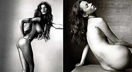 Gisele Bundchen y Kate Moss al desnudo
