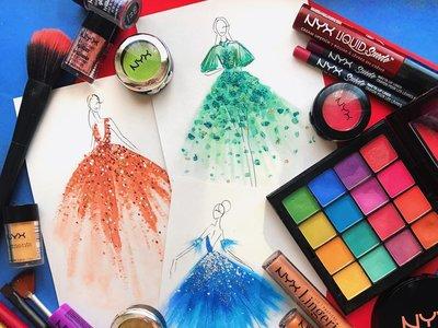 Esta artista convierte el maquillaje en prendas de diseño
