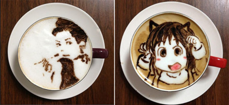 Arte en latte mujeres