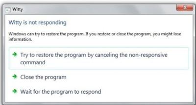 Windows 7 restaurará las aplicaciones que no respondan sin necesidad de reiniciarlas