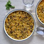 Judías azuki con crema de verduras, arroz y miso: receta vegana completa y sabrosa