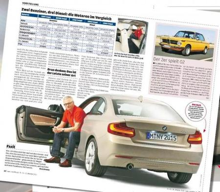 El BMW Serie 2 Coupé se descubre antes de tiempo