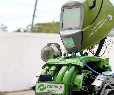 Alumnos del CONALEP crearon un robot para que aplique protocolos de sanitización contra COVID