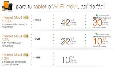 Orange mejora su oferta de Internet móvil con un nuevo bono de 3 GB al precio de 2 GB
