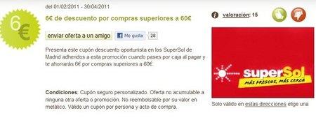 6 euros de descuento en supermecados Supersol
