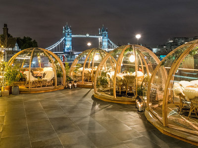 Esta Navidad cena dentro de un iglú transparente (y con vistas al Támesis)