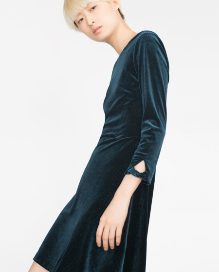 Vestido Zara Purpurina