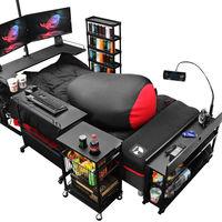 Gamer a tiempo completo: este conjunto de cama y muebles puede ser el sueño del jugón más empedernido