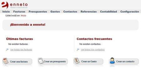 enneto, opción de facturación electrónica online