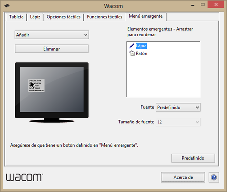 Wacom preferencias 5
