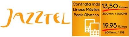 Jazztel estrena tarifa de 600 minutos y 1 GB por 19.95 euros para segundas líneas con ADSL
