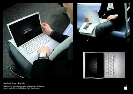Publicidad Ultra thin del MacBook Pro