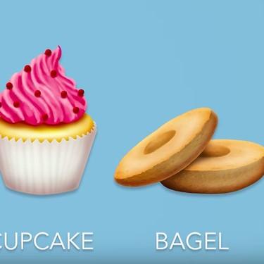 Cupcakes, espinacas, bagels y más: los nuevos emojis de comida para este 2018