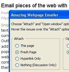 Amazing Webpage Emailer, para enviar páginas web por email