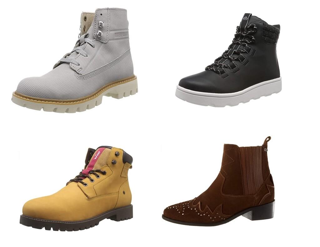 Chollos en tallas sueltas de botas Caterpillar, Quiksilver o Levi's en Amazon