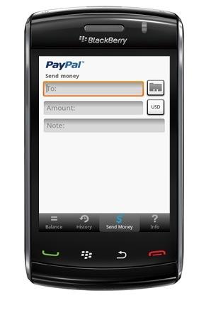 PayPal lanzará una aplicación para BlackBerry