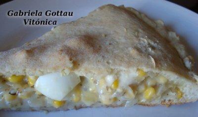 Empanada de maíz. Receta saludable