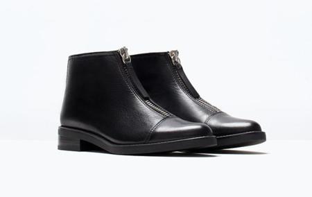 Clon Botines Burberry Cremallera Zara