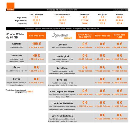 Precios Iphone 12 Mini De 64 Gb A Plazos Con Tarifas Orange