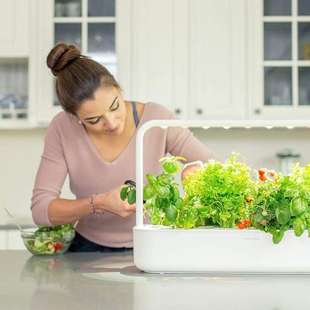 Click Grow 9 Smart Garden 9 Jardinera De Interior Color Blanco 60 5 X 18 5 X 40 Cm
