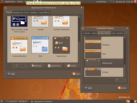 La primera Alpha de Ubuntu 8.10 viene con un nuevo tema oscuro