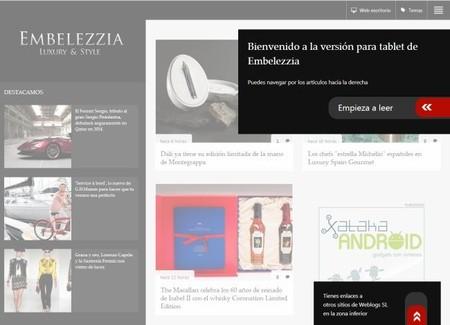 ¡Ya puedes disfrutar de Embelezzia en tu tablet !