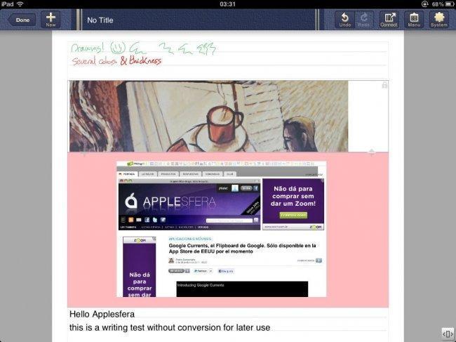 Varias opciones de inclusión de contenido, texto, imágenes y páginas web
