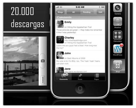 WordPress for iPhone 2, 20.000 descargas en una semana