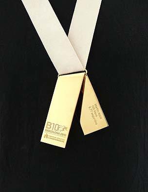 Las medallas del Europeo de Atletismo 2010 son de diseño español