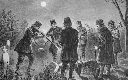 El pánico vampírico de Nueva Inglaterra que puso a la gente a exhumar cadáveres buscando chupasangres
