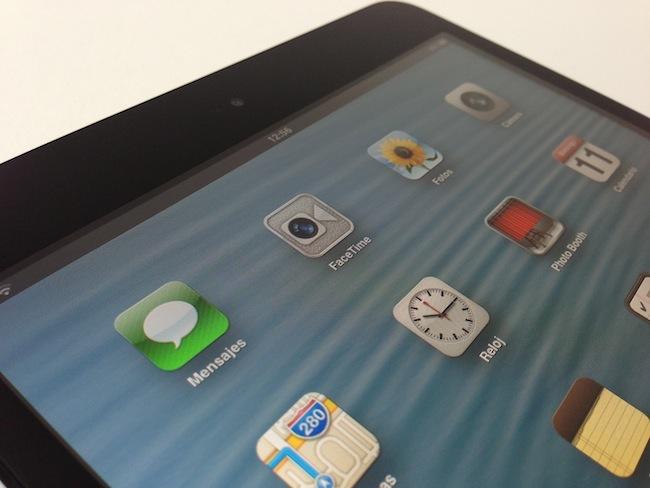 Análisis iPad mini foto pantalla escritorio