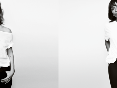 Kate Moss y Naomi Campbell posan juntas por una buena causa