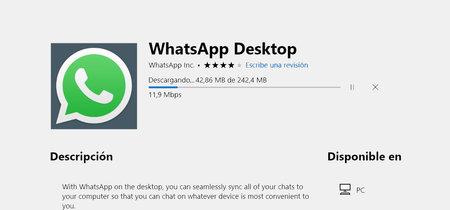 Ya puedes instalar WhatsApp para Windows desde la Microsoft Store