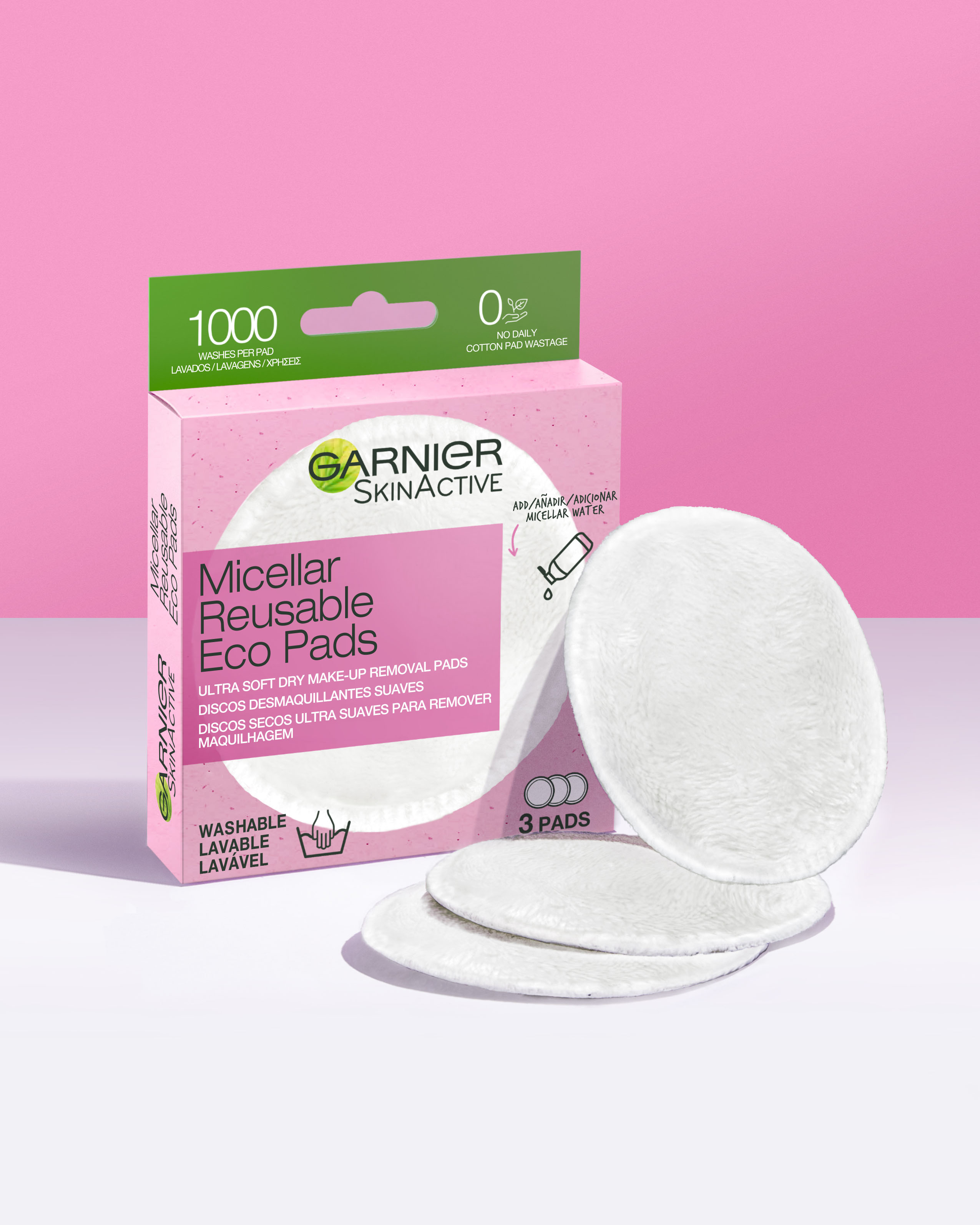 Discos desmaquillantes reutilizables Skin Active Garnier