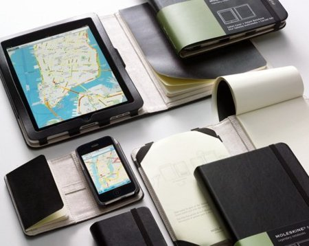 Smartphone Cover y Tablet Cover de Moleskine, fundas para iPhone y iPad con libreta de notas incluida