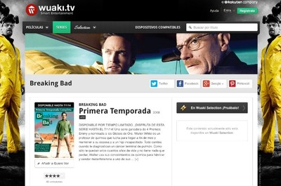 Wuaki TV y Breaking Bad, Walter White llega al completo al plan Selection