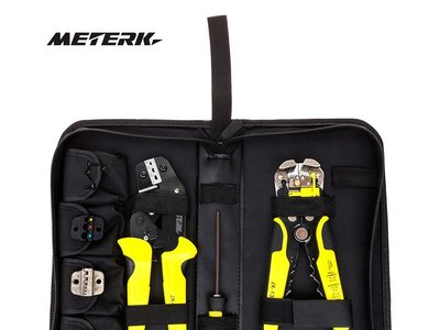 Oferta flash en el kit de alicates y pelacables profesionales Meterk: cuesta 33,99 euros en Amazon hasta medianoche