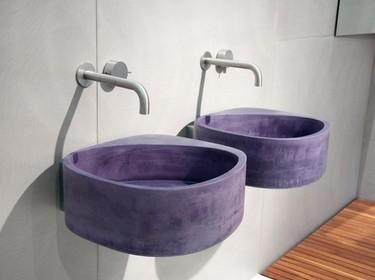 Cemento teñido de color, nueva tendencia en la fabricación de lavabos