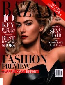 No, en serio, no es Gwen Stefani, es Kate Winslet en portada de la Harper's Bazaar