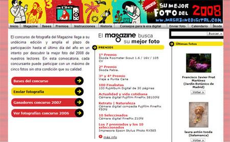 Concurso suplemento Magazine 2008