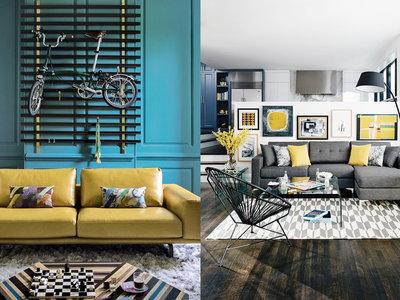 17 ideas para integrar el color amarillo en tu salón