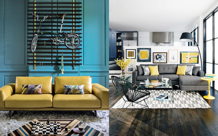 17 ideas para integrar el color amarillo en tu salón
