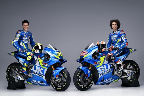 El Suzuki Ecstar presenta las motos de Álex Rins y Joan Mir para MotoGP 2019 con escasos cambios estéticos
