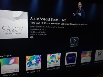 El canal de eventos en el Apple TV ya está preparado para la keynote #ApplesferaKeynote9S