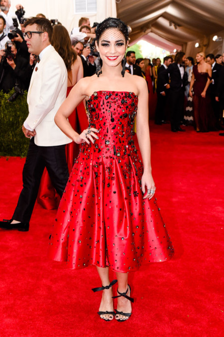 Vanessa Hudgens In Custom Made H M Met Gala 2015