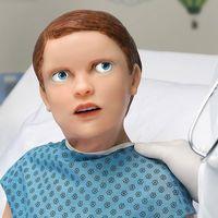 Conozcan a 'HAL', el inquietante robot que sangra, simula emociones y sirve para imitar a un paciente pediátrico