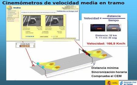 Tres nuevos radares de tramo en Madrid, Zaragoza y Coruña